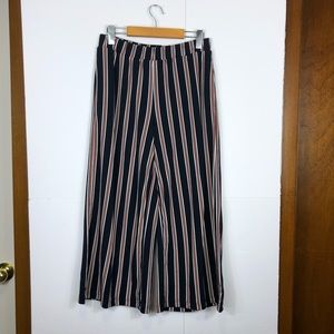 Banana Republic Wide Leg Striped Pants Sz S